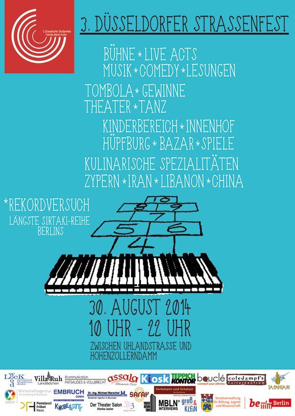 Strassenfest am Samstag den 30.08.2014 10-22 Uhr zwischen Hohenzollerndamm und Uhlandstraße